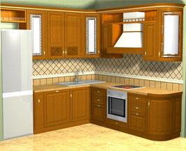 Дизайн кухни в%СПб - Ника