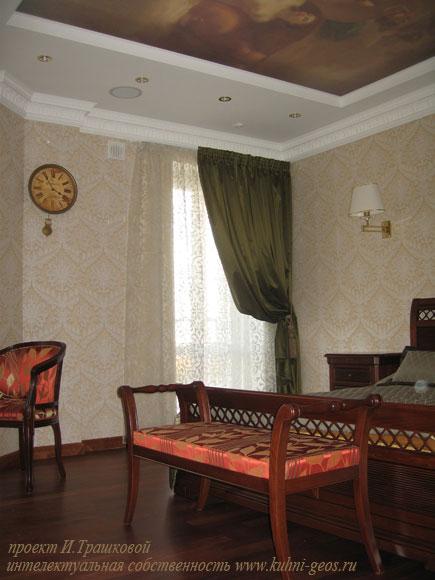 дизайн интерьера спальной - СПб.